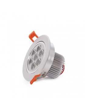 Foco Downlight de LEDs ECOLINE Circular 7W 700Lm 30.000H