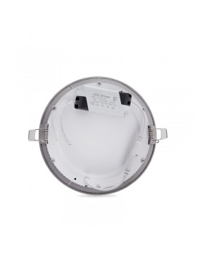 Placa de LEDs Circular ECOLINE 225m 18W 1350Lm 30.000H Aro Color Plata