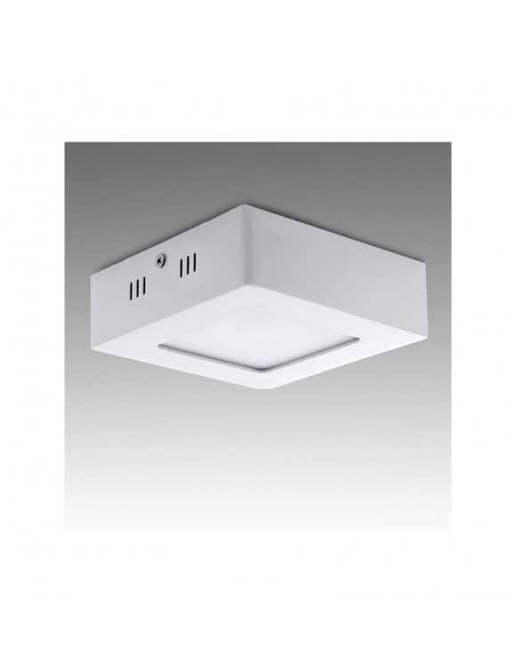 Plafón de Techo de LEDs Cuadrado de Superficie 120mm 6W 470Lm 30.000H