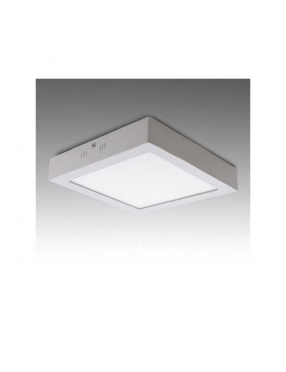 Plafón de Techo de LEDs Cuadrado de Superficie 225mm 18W 932Lm 30.000H