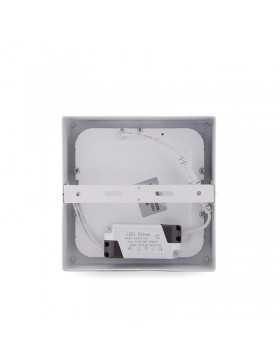 Plafón de Techo de LEDs Cuadrado de Superficie 174mm 12W 800Lm 30.000H