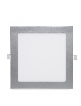 Placa de LEDs Cuadrada ECOLINE 224m 18W 1350Lm 30.000H Aro Color Plata