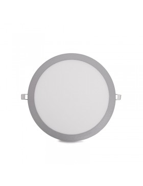 Placa de LEDs Circular ECOLINE 295m 25W 2000Lm 30.000H Aro Color Plata