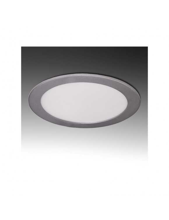 Placa de LEDs Circular ECOLINE 192mm 15W 1170Lm 30.000H Aro Color Plata