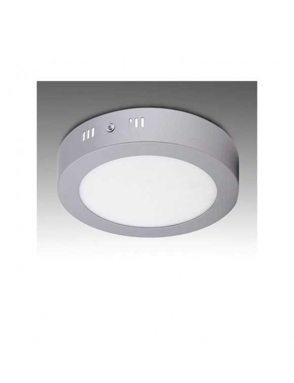 Plafón de Techo de LEDs Circular Cuerpo Cromado Ø169mm 12W 930Lm 30.000H