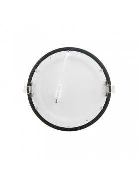 Placa de LEDs Circular Marco Negro 225mm 18W 1380Lm 30.000H