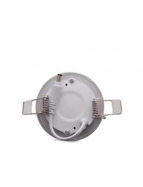 Placa de LEDs Circular Marco Plateado 90mm 3W 230Lm 30.000H