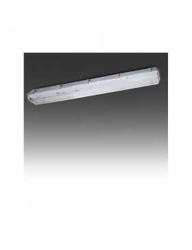 Pantalla Estanca para dos Tubos de LEDs 1200mm ABS/PC