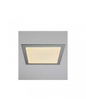 Placa de LEDs Cuadrada Marco Color Plata 300mm 25W 2180Lm 30.000H