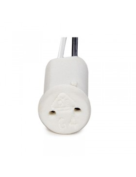 Portalámparas Cerámico G4/MR11 Cable 300mm 180ºC