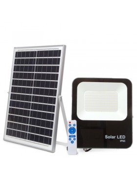 Proyector LED Solar 50W IP65 5000Lm Control Remoto