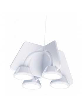 "Lámpara Colgante \""TWIN\"" Blanco LED 36W 2250Lm 3000K Regulable  [MIM-TWIN]"