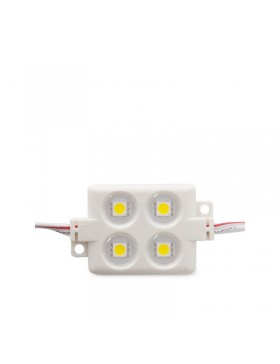 Módulo 4 LEDs ABS Inyectado SMD5050 1,44W Blanco