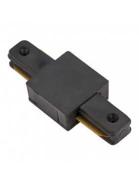 Conector Recto Carril Monofásico Negro