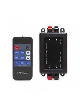 Dimmer Tira LED Mando a Distancia 12-24VDC ► 96/192W Multifunción