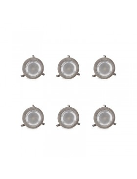 Juego 6 Focos LED Empotrar IP54 Driver 0,3W 30Lm 30.000H