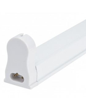 Luminaria Aluminio Eco 1 X Tubo LED T8 120Cm Conexión Un Extremo